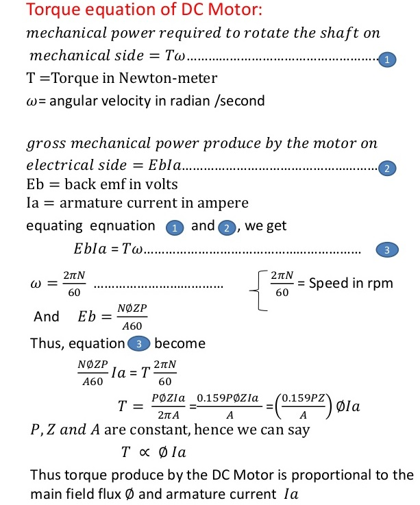 Electric Dc Motors Principle Of Operation Types
